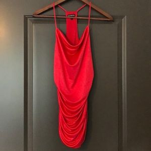 Express Red Dressy Tank Top Size S